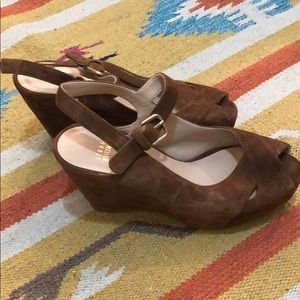 Authentic Suede Stuart Weitzman Wedges